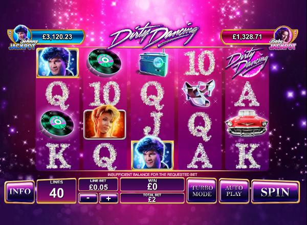 Dirty Dancing - красочный игровой автомат по мотивам известной киноленты