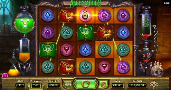 Игровой автомат Alchymedes - чудеса алхимика помогут выиграть в казино Вулкан