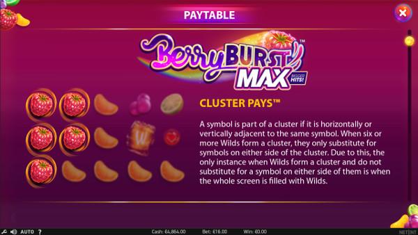 Игровой автомат Berryburst Max - на сайте казино Cлотозал выиграй крупно в аппараты NetEnt
