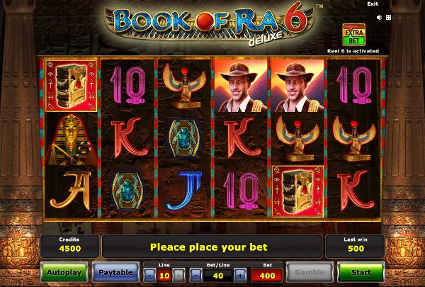 Игровой автомат Book of Ra Deluxe 6 - на сайте Joycasino казино испытай удачу