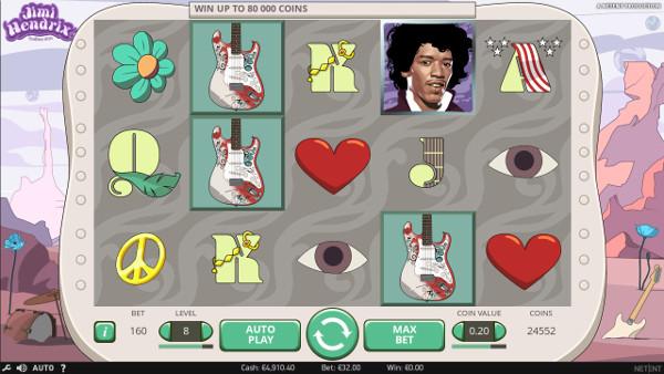 Игровой автомат Jimi Hendrix - играть на официальный сайт Плей Фортуна казино