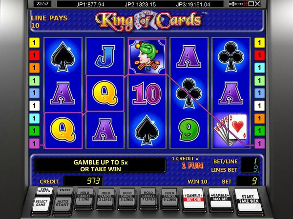 Игровой автомат King Of Cards - постоянные выигрыши и неплохие бонусы