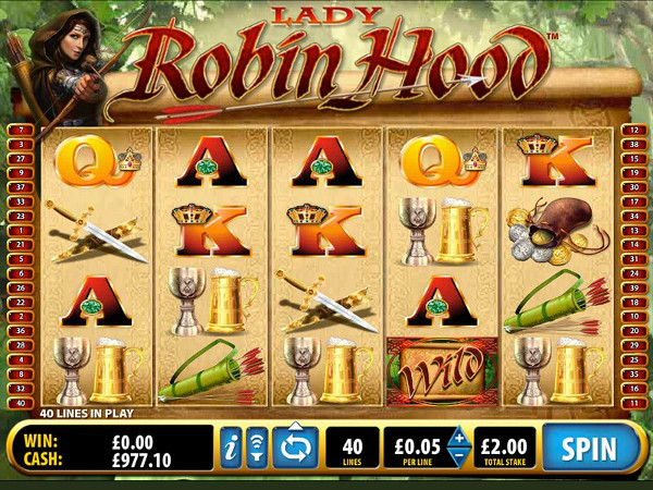 Игровой автомат Lady Robin Hood - слот для охотников