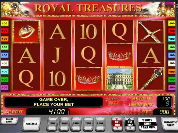 Игровой автомат Royal Treasures - завоюй королевские богатства