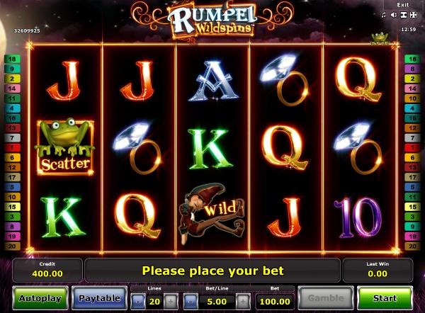 Игровой автомат Rumpel Wildspins - завоюй золото хитрого карлика в казино Вулкан