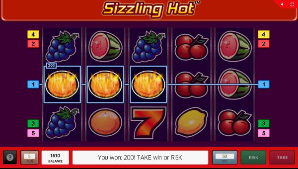 Игровой автомат Sizzling Hot - шикарные выигрыши для игроков Вулкан 24 казино