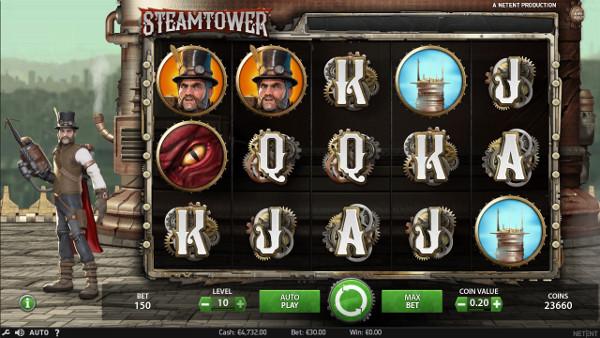 Игровой автомат Steam Tower - большие выигрыши ждут в Вулкан Вегас казино
