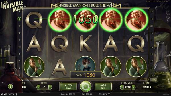 Игровой автомат The Invisible Man - играй онлайн бесплатно в мобильное казино Вулкан