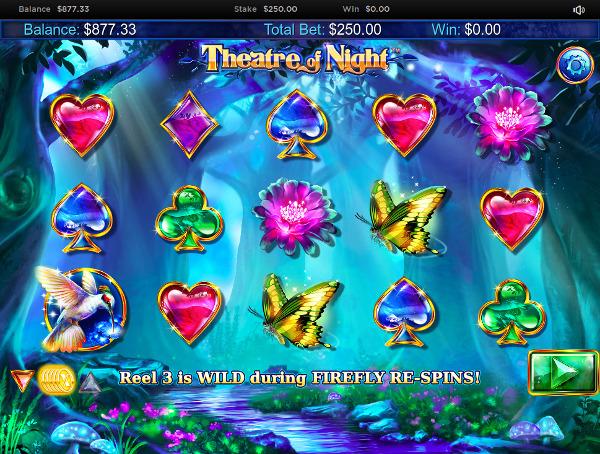 Игровой автомат Theatre of Night - путешествие по щедрому лесу в казино Вулкан