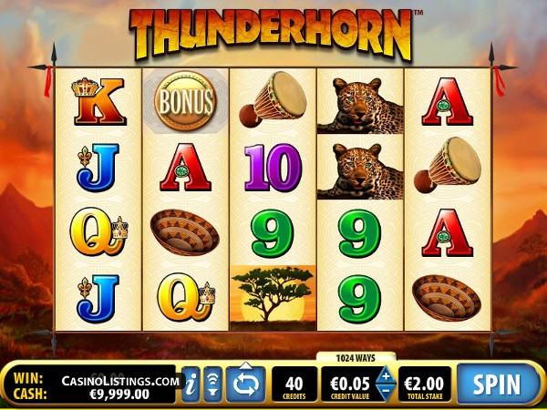Игровой автомат Thunderhorn - африканское путешествие за деньгами в казино ВулканБет