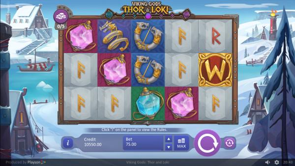 Игровой автомат Viking Gods Thor and Loki - в мобильное казино Вулкан 24 поймай удачу
