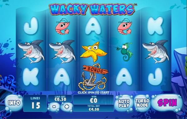 Игровой автомат Wacky Waters - подводный мир приключений
