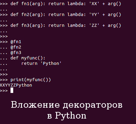 Вложение декораторов в Python