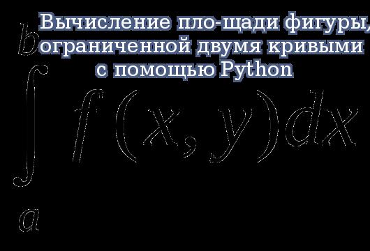 Вычисление площади фигуры, ограниченной двумя кривыми с помощью Python